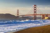 The Golden Gate Bridge from Baker Beach, San Francisco, California Stampa fotografica di Chuck Haney