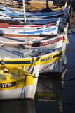Colorful Sailboats in the small harbor of Cassis, Provence France Fotografisk trykk av Brian Jannsen