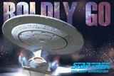 Star Trek Next Gen Boldly Go Ship Poster