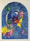 Jerusalem Windows : Benjamin Keräilyvedos tekijänä Marc Chagall