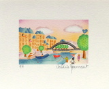 Paris, Le Canal St Martin Collectable Print by Valérie Hermant