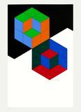 Bi-Hexa Edição limitada por Victor Vasarely