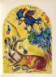 Jerusalem Windows : NephtaII Keräilyvedos tekijänä Marc Chagall
