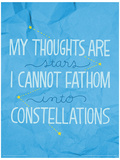 The Fault In Our Stars - Constellations Impressão original