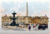 Paris, La Place De La Concorde Collectable Print by Urbain Huchet