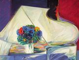 Le bouquet au piano II Limited Edition by Claude Hemeret