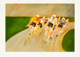 Tour de France cycliste Collectable Print by Guy Buffet