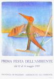 Expo 1989 - Prima Fiesta dell'ambiente Samlarprint av Jean Michel Folon