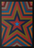 Five Pointed Star with Color Bands Edição limitada por Sol Lewitt