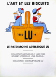 L'art et les biscuits Collectable Print by Raymond Savignac