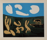 LC - Bacchanale au taureau Premium-Edition von Pablo Picasso