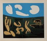 LC - Bacchanale au taureau Impressão colecionável por Pablo Picasso