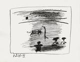 A los toros : les banderilles Impressão colecionável por Pablo Picasso