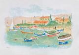Saint Tropez, plage des Canebiers Limited Edition by Urbain Huchet