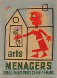Salon des Arts Ménagers 56 Impressão colecionável por Francis Bernard
