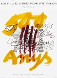 Expo 74 - Fira del Llibre d'ocasio Samlertryk af Antoni Tapies