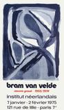 Expo 75 - Institut Néerlandais Keräilyvedos tekijänä Bram van Velde