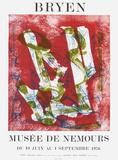 Expo 76 - Musée de Nemours Lámina coleccionable por Camille Bryen