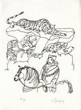 PA - Le tigre des Ming 02 Limitierte Auflage von Charles Lapicque
