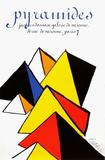 Expo 80 - Galerie Jacques Damase Pyramides Reproduction pour collectionneur par Alexander Calder
