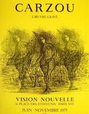 Expo 75 - Vision Nouvelle III Samlarprint av Jean Carzou