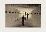 Origines - Etude de perspective Edição limitada por Victor Vasarely