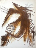 Sans titre pour la Revue Phases Impressão colecionável por Wilfredo Lam