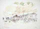 Le Port De Honfleur Limited Edition by André Hambourg
