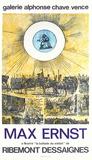 Expo Galerie Alphonse Chave Impressão colecionável por Max Ernst