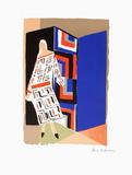 Femme à la robe simultanée Impressão colecionável por Sonia Delaunay-Terk