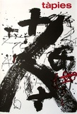 Expo Galerie Maeght 85 Collectable Print by Antoni Tapies