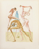 Divine Comedie, Enfer 26: Les habitants de Prato Samletrykk av Salvador Dalí