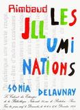 Expo 74 - Bibliothèque Nationale Impressão colecionável por Sonia Delaunay-Terk
