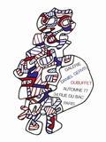 Expo Galerie Daniel Gervis Reproduction pour collectionneur par Jean Dubuffet