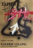 Expo Galerie Lelong 88 Samlertryk af Antoni Tapies