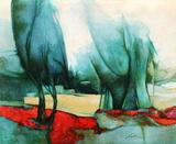 p - Les grands arbres Samlertryk af Claude Gaveau