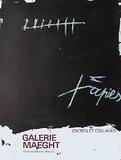 Expo Encres et collages Samlertryk af Antoni Tapies