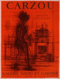 Expo 65 - Galerie David et Garnier Collectable Print by Jean Carzou