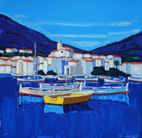 Espagne Cadaquès : barques Samletrykk av Jean Claude Quilici