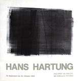 Expo Galerie Im Ecker Impressão colecionável por Hans Hartung