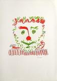 Le clown Samletrykk av Pablo Picasso