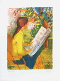 Jeune Fille au Jardin Stampa da collezione di Paul Collomb