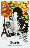 Affiches SNCF : Île-De-France Reproduction pour collectionneur par Salvador Dalí