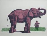 Elefante y General Serigrafi (silketryk) af Antonio Segui