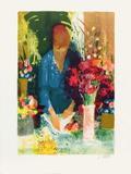 Marchande de Fleurs Stampa da collezione di Paul Collomb