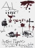 Expo Erker Galerie Samlertryk af Antoni Tapies