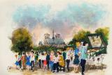 Paris, Les Bouquinistes Collectable Print by Urbain Huchet