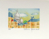 Paris, Un Coin De Montmartre Collectable Print by Valérie Hermant