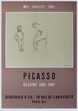 Expo 54 - Galerie Berggruen Impressão colecionável por Pablo Picasso