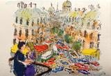 Paris, Les Boulevards Collectable Print by Urbain Huchet